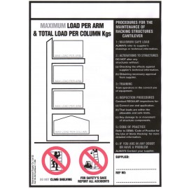 Cantilever Racking Load Notice