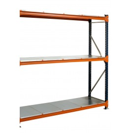 500mm Galvanised Longspan Shelving Extension Bay