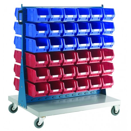 Double Sided Louvered Panel Trolley