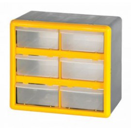 6 Compartment Storage Box Small Parts Storage Unit